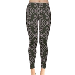 Line Geometry Pattern Geometric Leggings