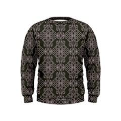 Line Geometry Pattern Geometric Kids  Sweatshirt