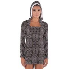 Line Geometry Pattern Geometric Women s Long Sleeve Hooded T Shirt