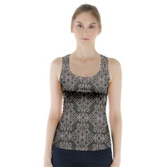 Line Geometry Pattern Geometric Racer Back Sports Top