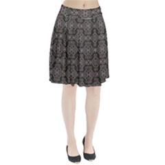 Line Geometry Pattern Geometric Pleated Skirt