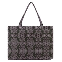 Line Geometry Pattern Geometric Medium Zipper Tote Bag