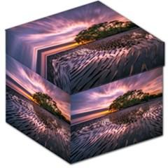 Landscape Reflection Waves Ripples Storage Stool 12