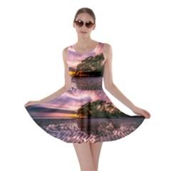 Landscape Reflection Waves Ripples Skater Dress
