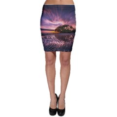 Landscape Reflection Waves Ripples Bodycon Skirt