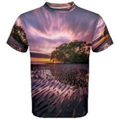 Landscape Reflection Waves Ripples Men s Cotton Tee