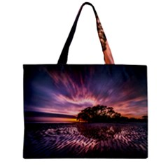 Landscape Reflection Waves Ripples Mini Tote Bag