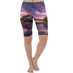Landscape Reflection Waves Ripples Cropped Leggings