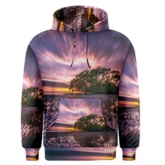 Landscape Reflection Waves Ripples Men s Pullover Hoodie