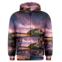 Landscape Reflection Waves Ripples Men s Zipper Hoodie