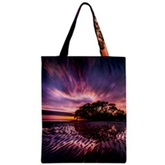 Landscape Reflection Waves Ripples Zipper Classic Tote Bag
