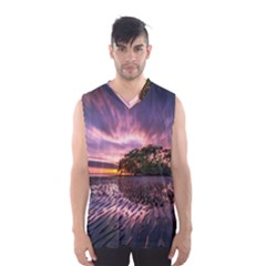 Landscape Reflection Waves Ripples Men s Basketball Tank Top