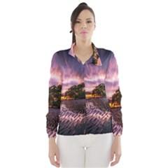 Landscape Reflection Waves Ripples Wind Breaker (Women)
