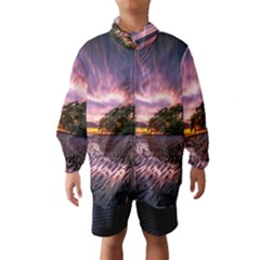 Landscape Reflection Waves Ripples Wind Breaker (kids)