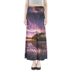 Landscape Reflection Waves Ripples Maxi Skirts