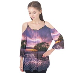 Landscape Reflection Waves Ripples Flutter Tees
