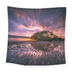 Landscape Reflection Waves Ripples Square Tapestry (large)