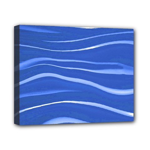 Lines Swinging Texture  Blue Background Canvas 10  X 8