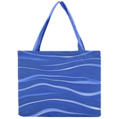 Lines Swinging Texture  Blue Background Mini Tote Bag
