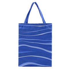 Lines Swinging Texture  Blue Background Classic Tote Bag