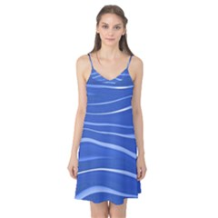 Lines Swinging Texture  Blue Background Camis Nightgown