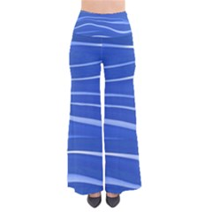 Lines Swinging Texture  Blue Background Pants