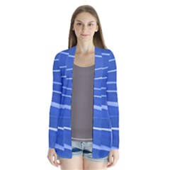 Lines Swinging Texture  Blue Background Cardigans