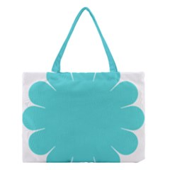 Turquoise Flower Blue Medium Tote Bag