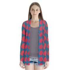 Rose Repeat Red Blue Beauty Sweet Cardigans