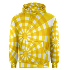 Weaving Hole Yellow Circle Men s Pullover Hoodie