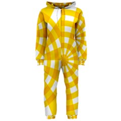 Weaving Hole Yellow Circle Hooded Jumpsuit (Ladies)