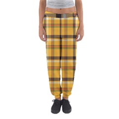 Plaid Yellow Line Women s Jogger Sweatpants