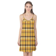 Plaid Yellow Line Camis Nightgown