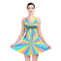 Rhythm Heaven Megamix Circle Star Rainbow Color Reversible Skater Dress
