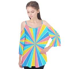 Rhythm Heaven Megamix Circle Star Rainbow Color Flutter Tees