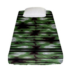 Stripes Camo Pattern Print Fitted Sheet (Single Size)