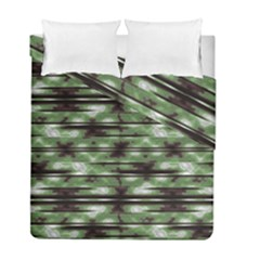 Stripes Camo Pattern Print Duvet Cover Double Side (Full/ Double Size)