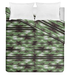 Stripes Camo Pattern Print Duvet Cover Double Side (Queen Size)