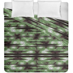 Stripes Camo Pattern Print Duvet Cover Double Side (King Size)