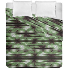 Stripes Camo Pattern Print Duvet Cover Double Side (California King Size)