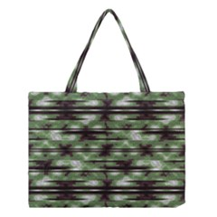 Stripes Camo Pattern Print Medium Tote Bag