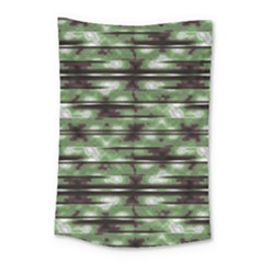 Stripes Camo Pattern Print Small Tapestry