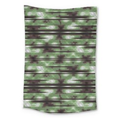 Stripes Camo Pattern Print Large Tapestry