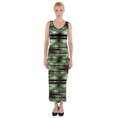 Stripes Camo Pattern Print Fitted Maxi Dress