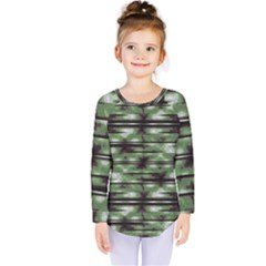 Stripes Camo Pattern Print Kids  Long Sleeve Tee