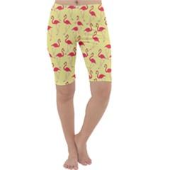 Flamingo pattern Cropped Leggings