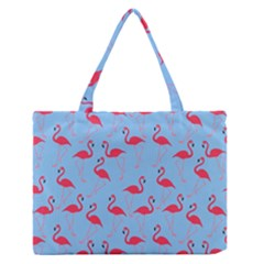 Flamingo pattern Medium Zipper Tote Bag