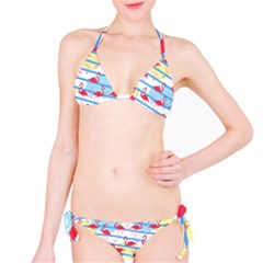 Flamingo pattern Bikini Set