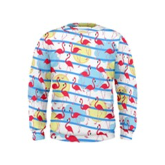 Flamingo pattern Kids  Sweatshirt