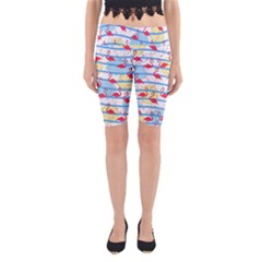 Flamingo pattern Yoga Cropped Leggings